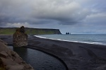 beach, ocean, volcanic, shore, cliff, iceland, 2008, Iceland, photo