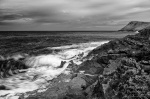 beach, wave, sea, coast, mallorca, spain, 2011, bnw, photo