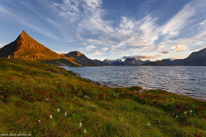 fjord, sunset, mountain, alpenglow, lofoten, norway, 2013, photo