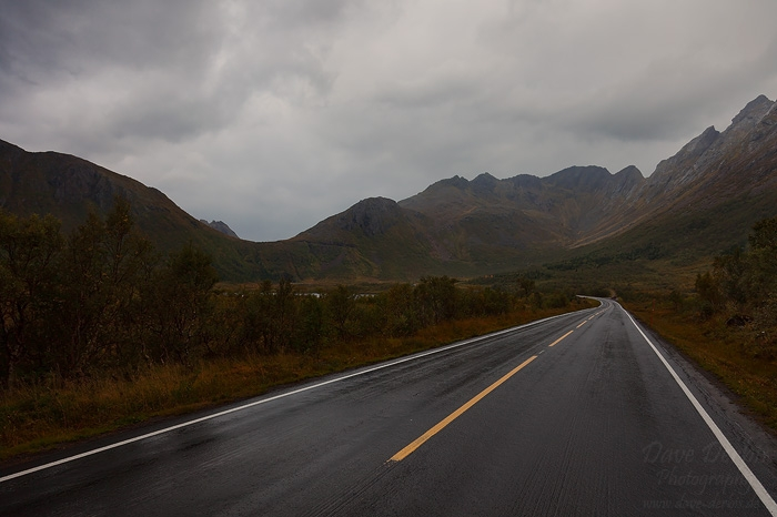 lofoten, norway, street, roadshot, mountain, wet, rain, 2013, photo