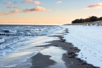 sunrise, baltic sea, winter, snow, beach, ocean, coast, germany, 2015, photo