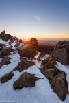mountain, winter, snow, sunstar, sunset, harz, germany, latest, photo