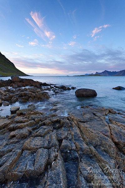 beach, norway, sunset, rocks, lofoten, photo