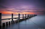sunset, beach, baltic sea, zingst, waves, twilight, landing stage, Mensch und Natur Kalender Fotos, photo